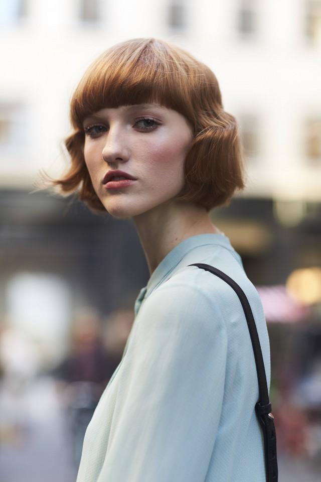 圆脸烫发中分魅力齐耳适合女生短发气质济南永琪显示价目表图片